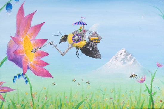 Sobaloopsian Nectarine Art Print