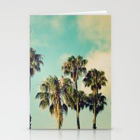 Palms Blue Stationery Cards