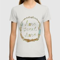 Home Sweet Home Womens Fitted Tee Silver SMALL
