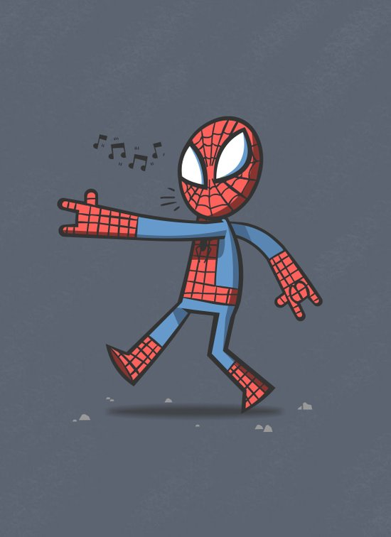 Spidey Walking Art Print
