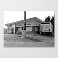 Canvas Print featuring Little warehouse by Vorona Photography
