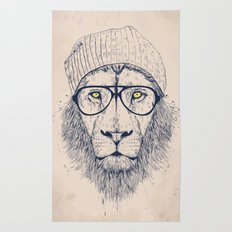Cool lion Rug