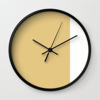 Gold Stripe (1) Wall Clock