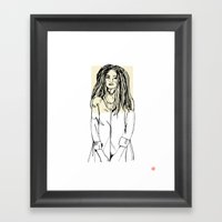 First Hello No.2 (tan) Framed Art Print