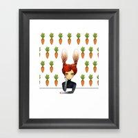 The Rabbit Girl With Car… Framed Art Print