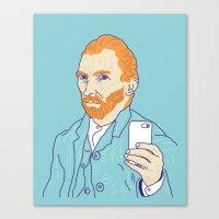 Van Selfie Canvas Print