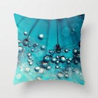 Sea Blue Shower Throw Pillow