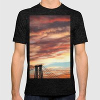 Sunsets Over Brooklyn Mens Fitted Tee Tri-Black SMALL