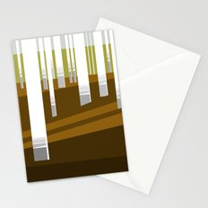 Minimal Finland (silver birch forest) Stationery Cards