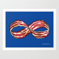 Infinite Bacon Art Print