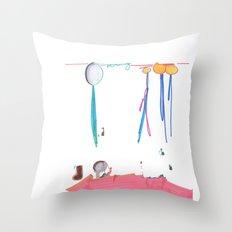 Balloon Voyage Throw Pillow