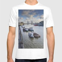 River Thames View Mens Fitted Tee White SMALL