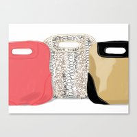 Canvas Print featuring #theFIserie: bags by Silbox
