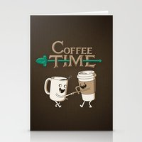 coffee Stationery Cards featuring Coffee Time! by powerpig