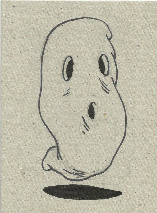 ghosty  Art Print