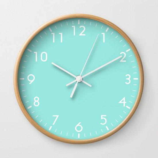 Blue Wall Clock By Beautiful Homes Society6