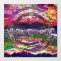 Galactic Circles Canvas Print