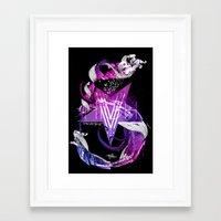 The Number Five Framed Art Print