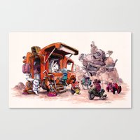 The Support Food Truck Canvas Print