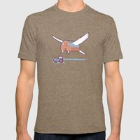 Barn owl Mens Fitted Tee Tri-Coffee SMALL