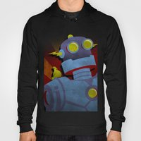 Retro Robot With Yellow … Hoody