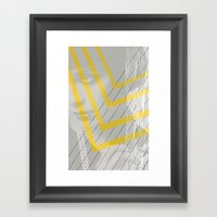 Lady In Lines Framed Art Print
