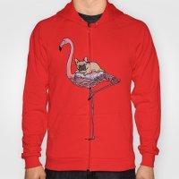 Flamingo and French Bulldog  Hoody