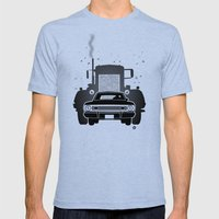 Steven Spielberg's DUEL Mens Fitted Tee Tri-Blue SMALL