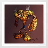 ZOMBIE THE THING Art Print