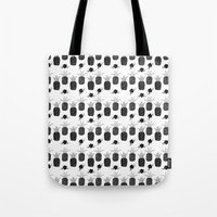 Pineapples - Black and White Tote Bag