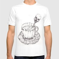 AS TEA Mens Fitted Tee White SMALL