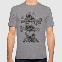 Skull Totem Mens Fitted Tee Athletic Grey SMALL