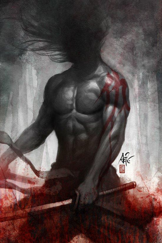 Samurai Vengeance Art Print