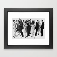 Framed Art Print featuring White People by Doug Smock
