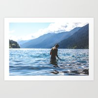 Lake Crescent Art Print