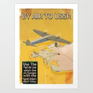 By Air To The USSR Vinta… Art Print