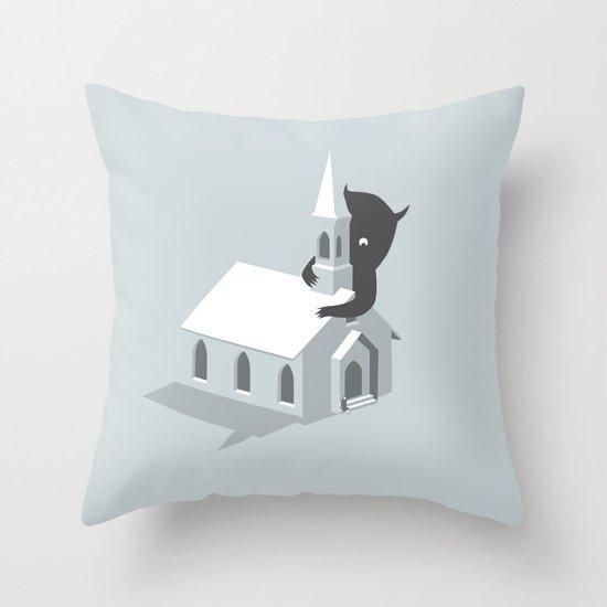 Monster! Throw Pillow