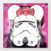 MINI TROOPER — On Pink Canvas Print