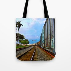 Planes, Trains, but no Automoblies Tote Bag