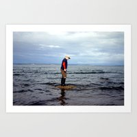 A boy and The Sea 2 Art Print