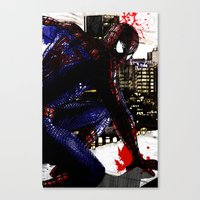 Spiderman In London Clos… Canvas Print