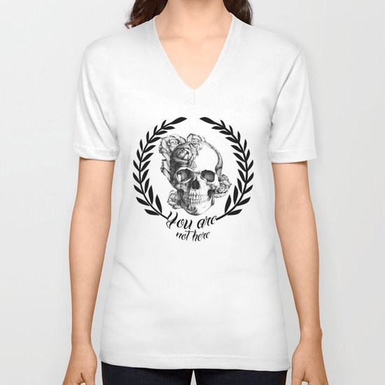 You are not here V-neck T-shirt