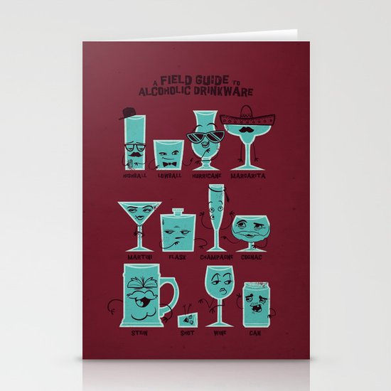 Field Guide to Alcoholic Drinkware Stationery Card
