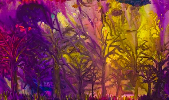Psychedelic Forest Fire Art Print