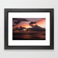 puerto vallarta sunset Framed Art Print