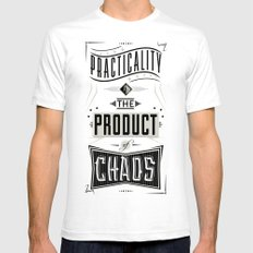 Practicality SMALL White Mens Fitted Tee