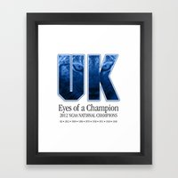 Eyes Of A Champion Framed Art Print