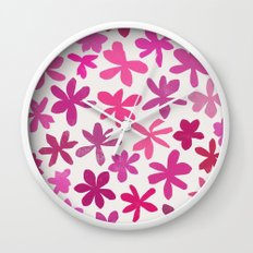 wildflowers 2 Wall Clock