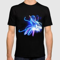 Neon SMALL Black Mens Fitted Tee