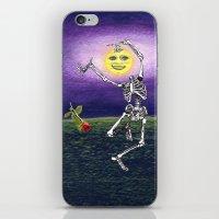 Skeleton Moon iPhone & iPod Skin
